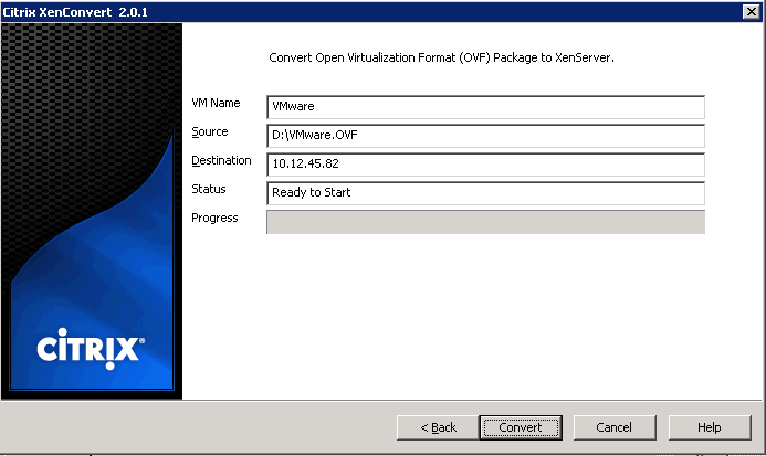 How to Convert VMware Virtual Machines to XenServer Virtual