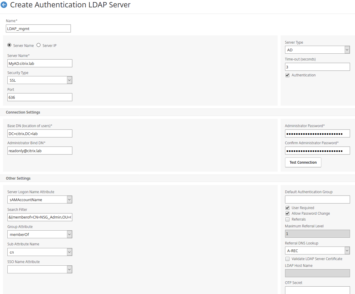 How to Configure LDAP Authentication on NetScaler Appliance for