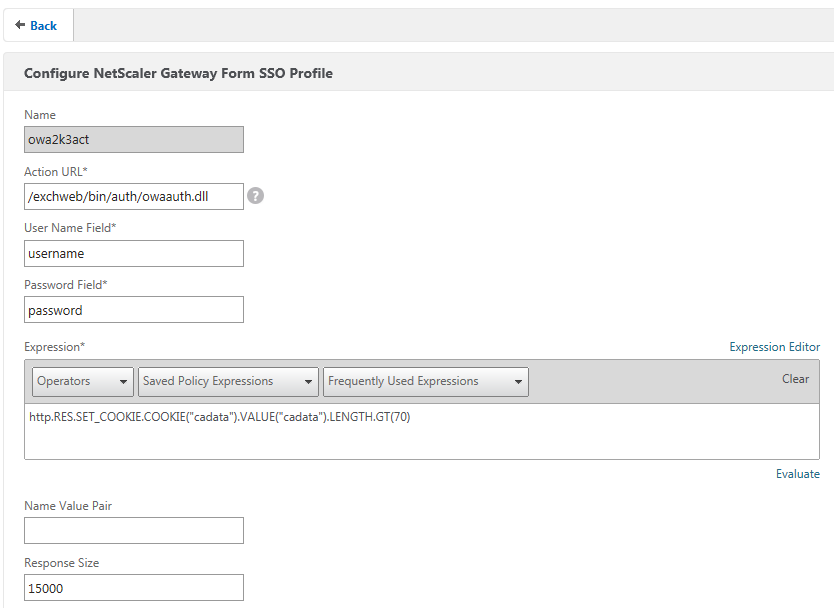 How to Configure NetScaler Gateway for Single Sign-On to a Web Form