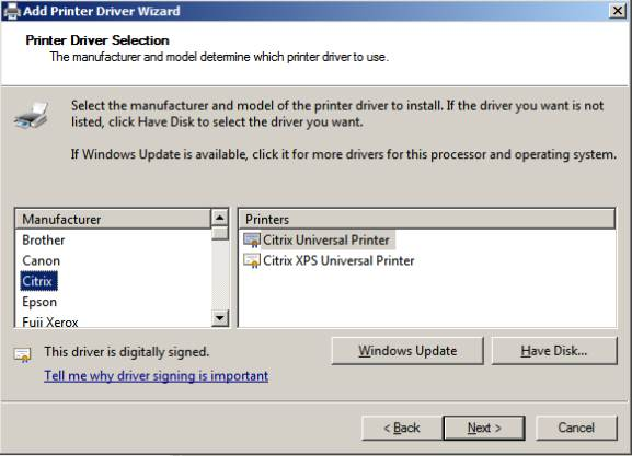How to Reinstall the Citrix Universal Print Drivers in Windows 2008