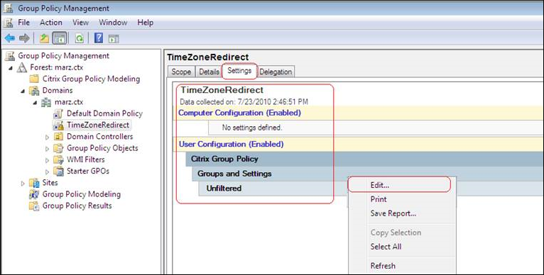 How to Configure Time Zone Redirection in XenApp 6 x using