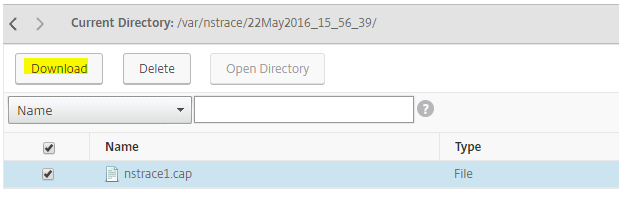 How to Record Network Packet Trace on NetScaler Appliance