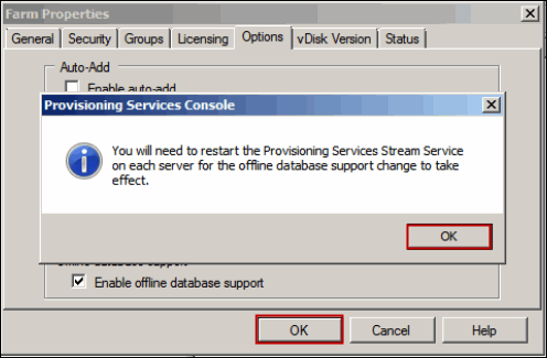 How to Enable Database Offline in Provisioning Services Farm