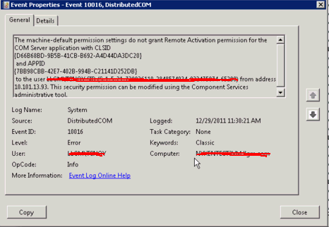 Locally Installed Management Console Fails Discovery with DCOM