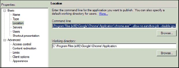 Google Chrome Becomes Unresponsive when Started as Published