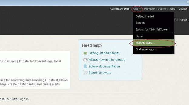 How to Install and Configure Splunk for NetScaler for Application