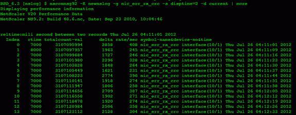 Cyclic Redundancy Check (CRC) Error on a NetScaler Interface