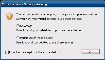 Citrix Receiver Security Message Your Virtual Desktop Is