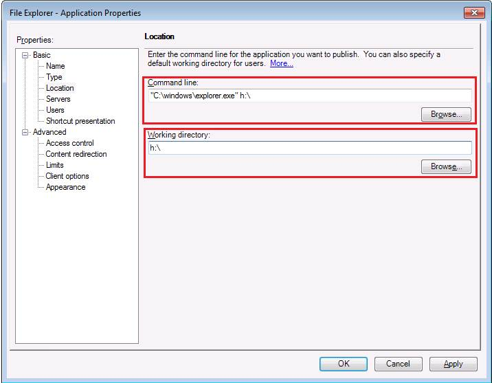 Published Explorer exe and other Applications Close