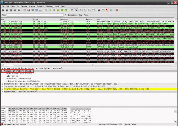Filter Expressions for Wireshark When Using NetScaler Appliance