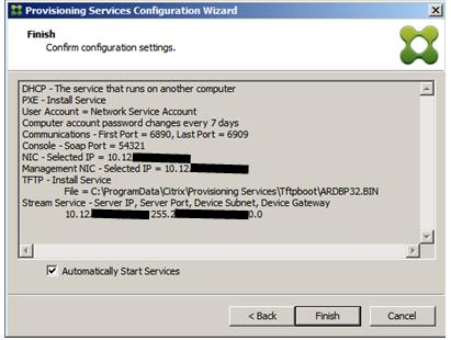 How to Run the Provisioning Services 7 x Configuration Wizard