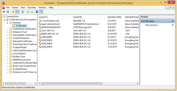 How to Configure Device Certificate on Citrix Gateway for