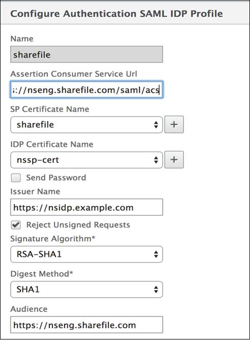 SAML Integration Between NetScaler and ShareFile
