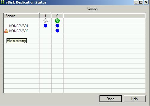 Troubleshooting Replication Status in Citrix Provisioning Server