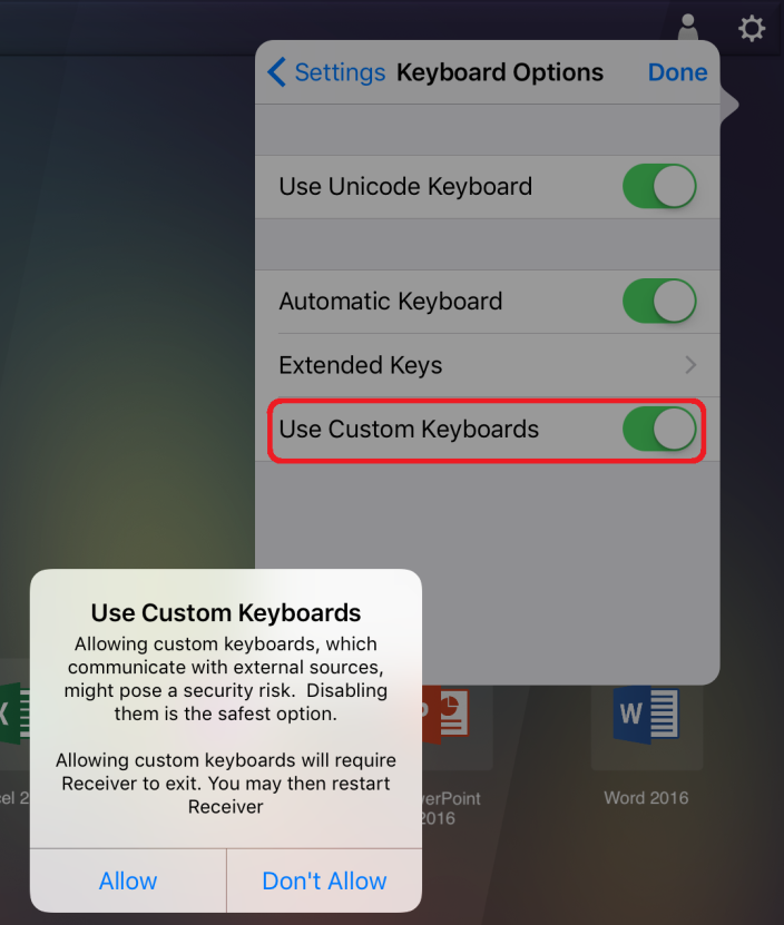 Citrix Receiver for iOS common settings reference