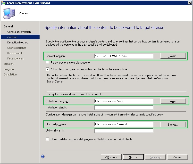 Deploy Citrix Receiver for Windows Using System Center Configuration