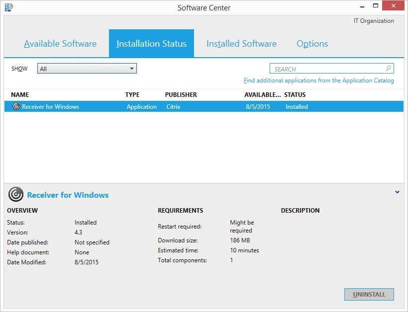 Deploy Citrix Receiver for Windows Using System Center