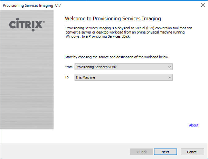 How to Perform Reverse Imaging on a Provisioning Services