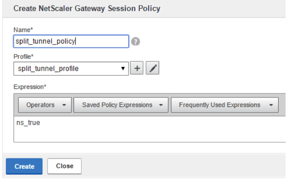 How do I configure Split Tunnel on NetScaler Gateway?