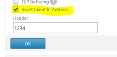 How to Enable Client IP in TCP/IP Option of NetScaler