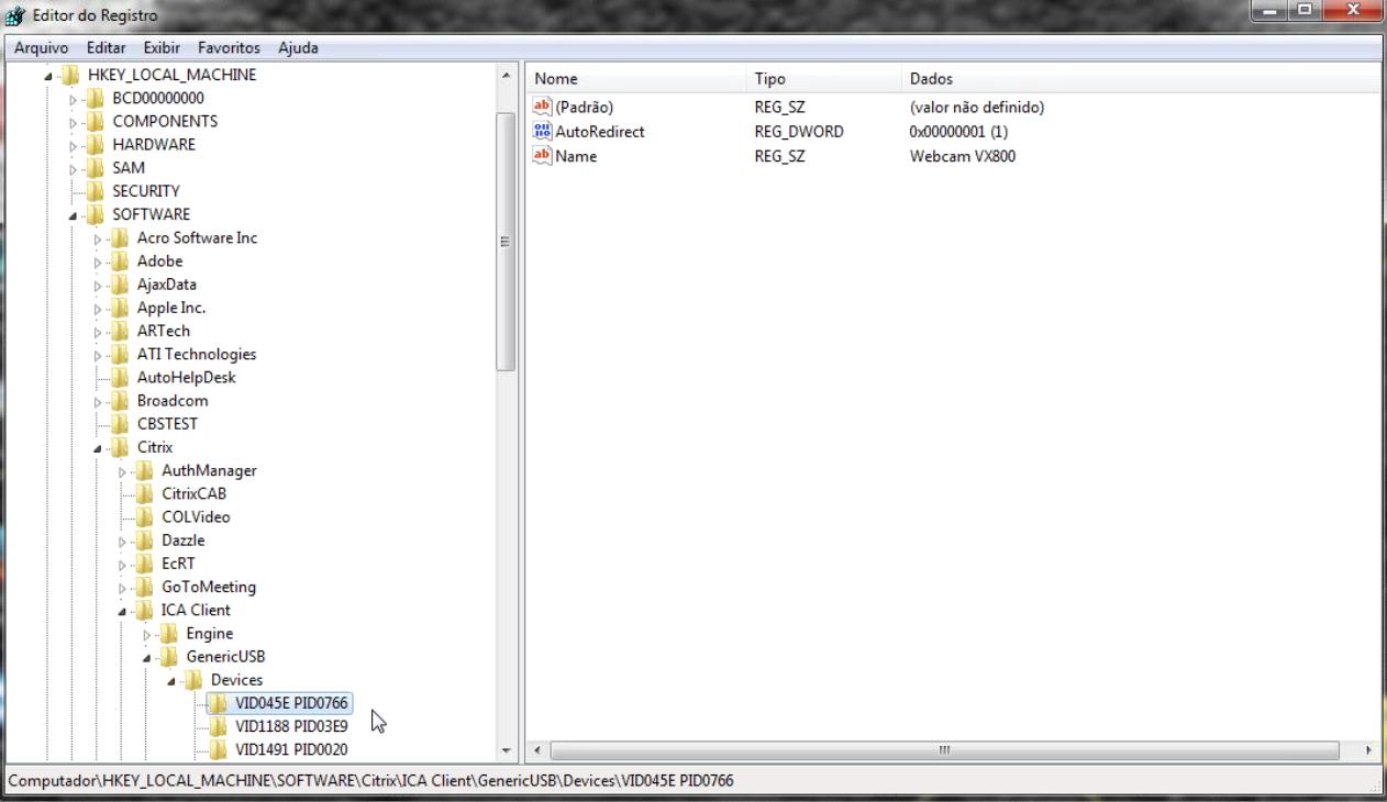 Webcams Not Working in XenDesktop, Being Redirected as