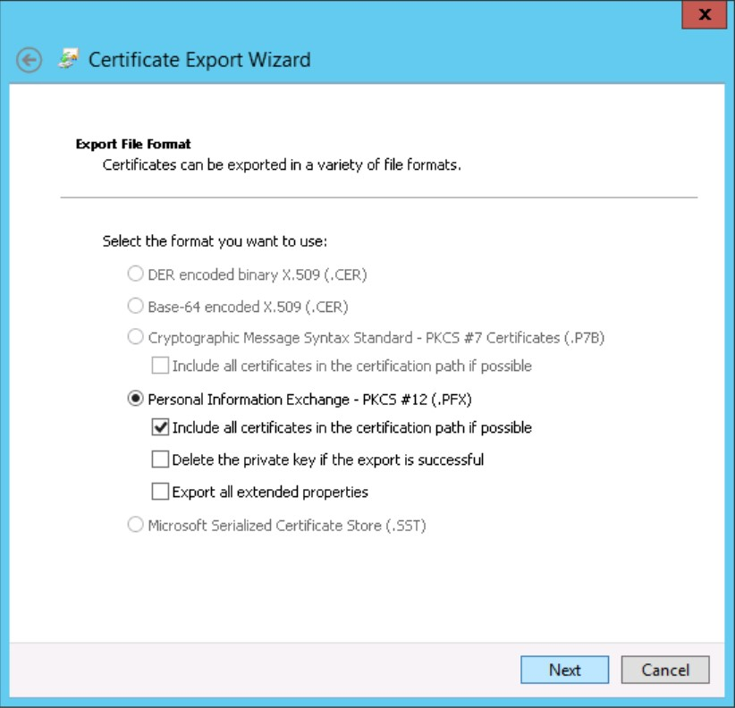 How To Export And Install An Ssl Certificate For Storefront To Use Https