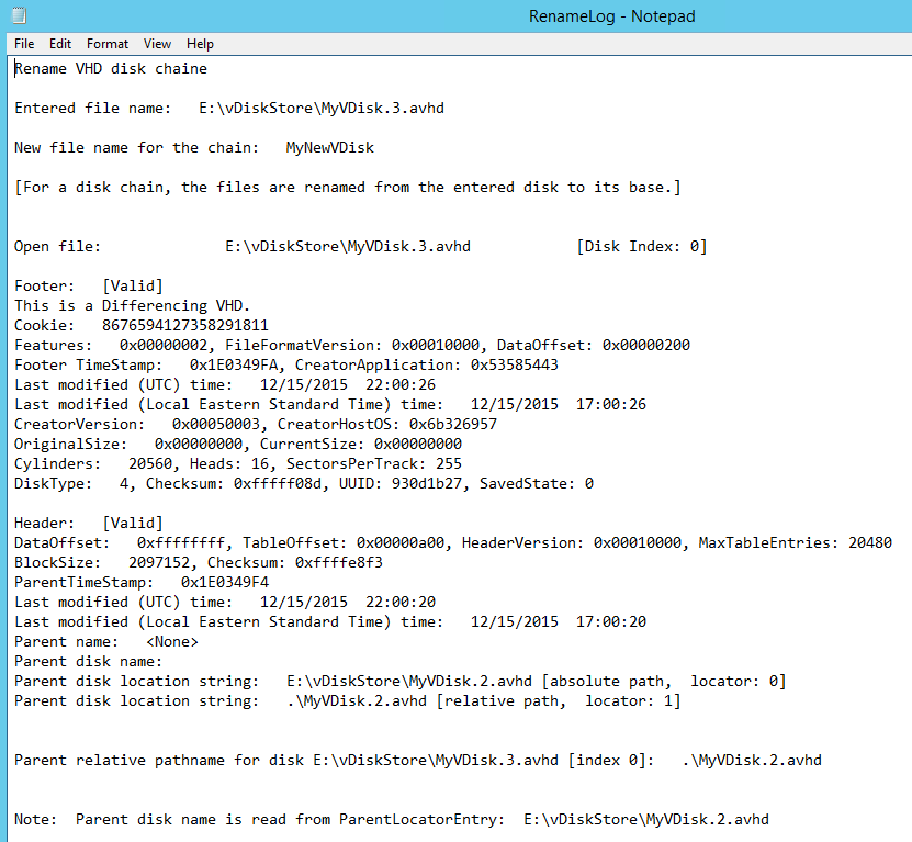 Managing Provisioning Services VDisk Versions with VhdUtil Tool