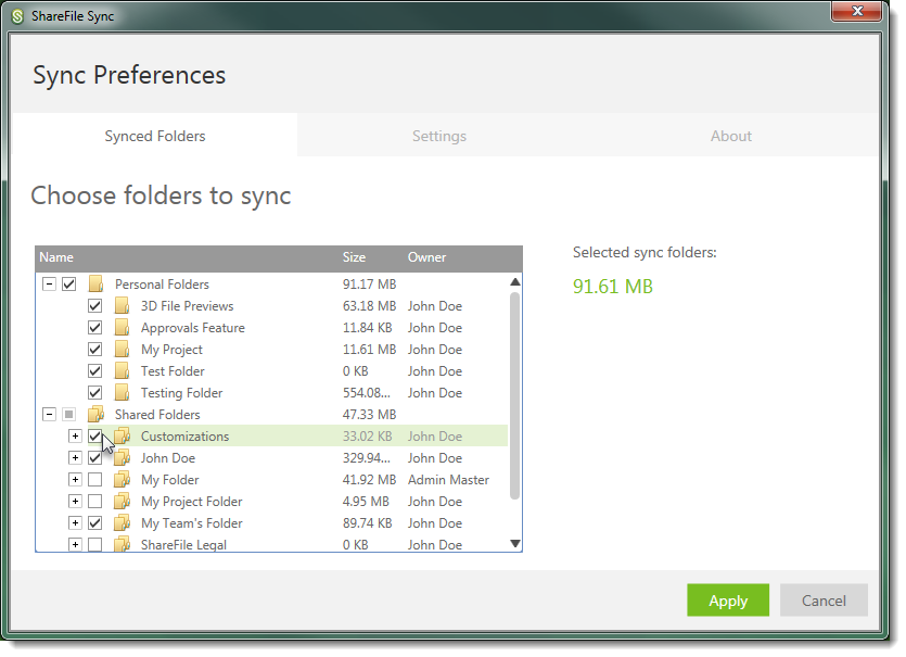 Sync for Windows User Guide