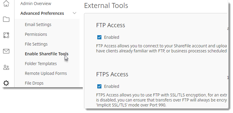 ShareFile FTP