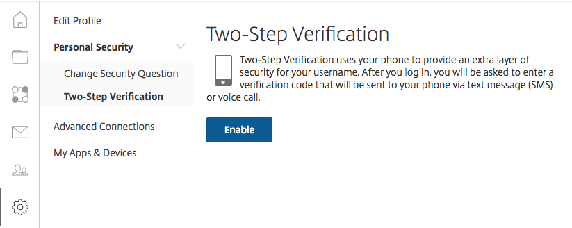 ShareFile Two-Step Verification