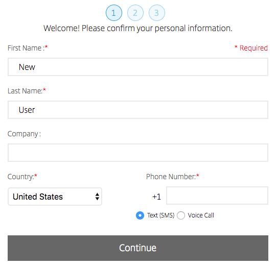 ShareFile Two-Step Verification