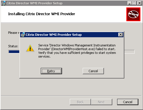 Director WMI Provider Fails to Install