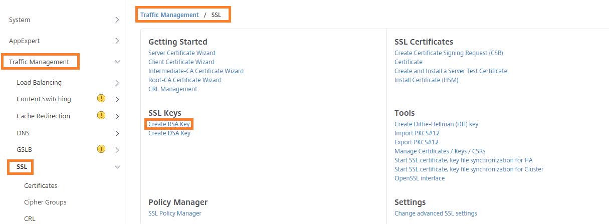 How Do I Set Up Rsa Keyspublic Ssl Certificate On Netscaler