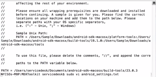 Wrapping Android Apps Error: