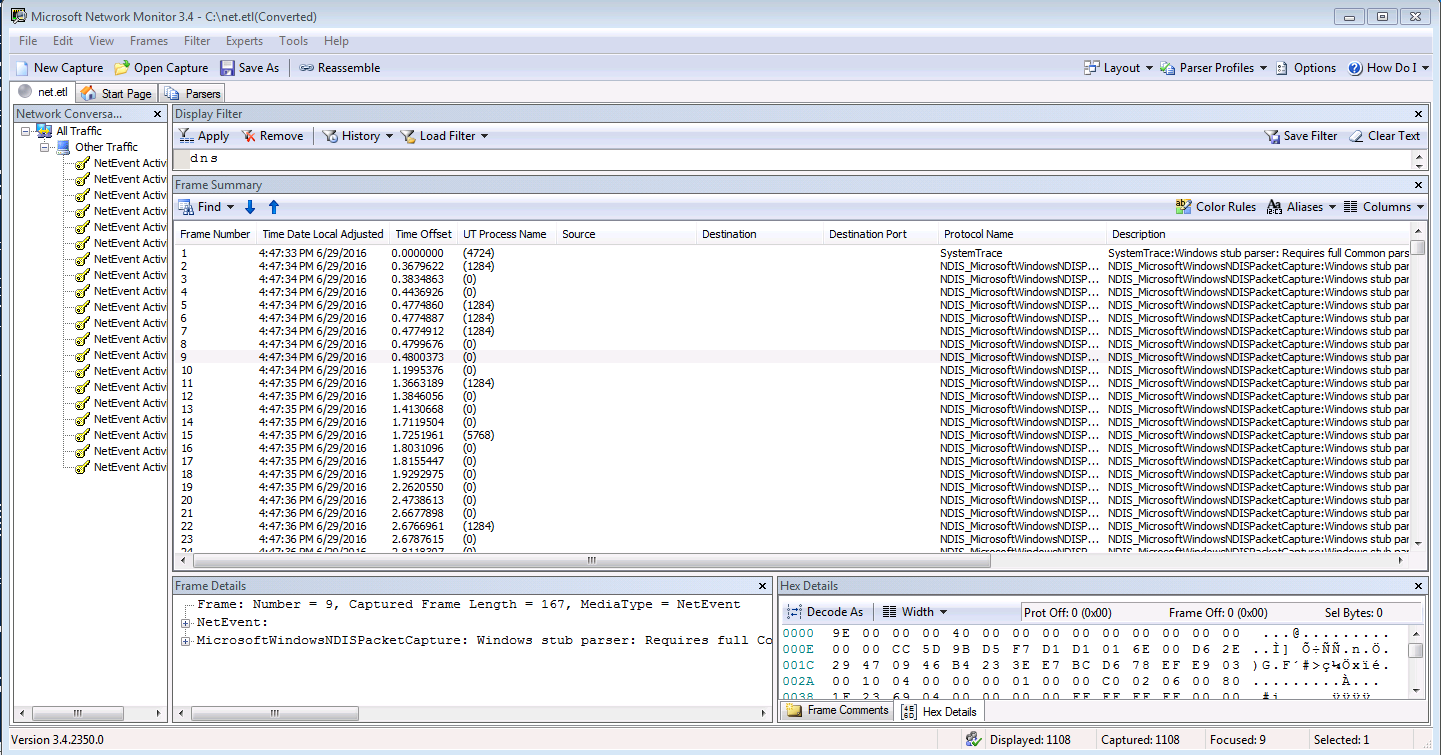 HOW TO: Collect Network trace without installing Wireshark