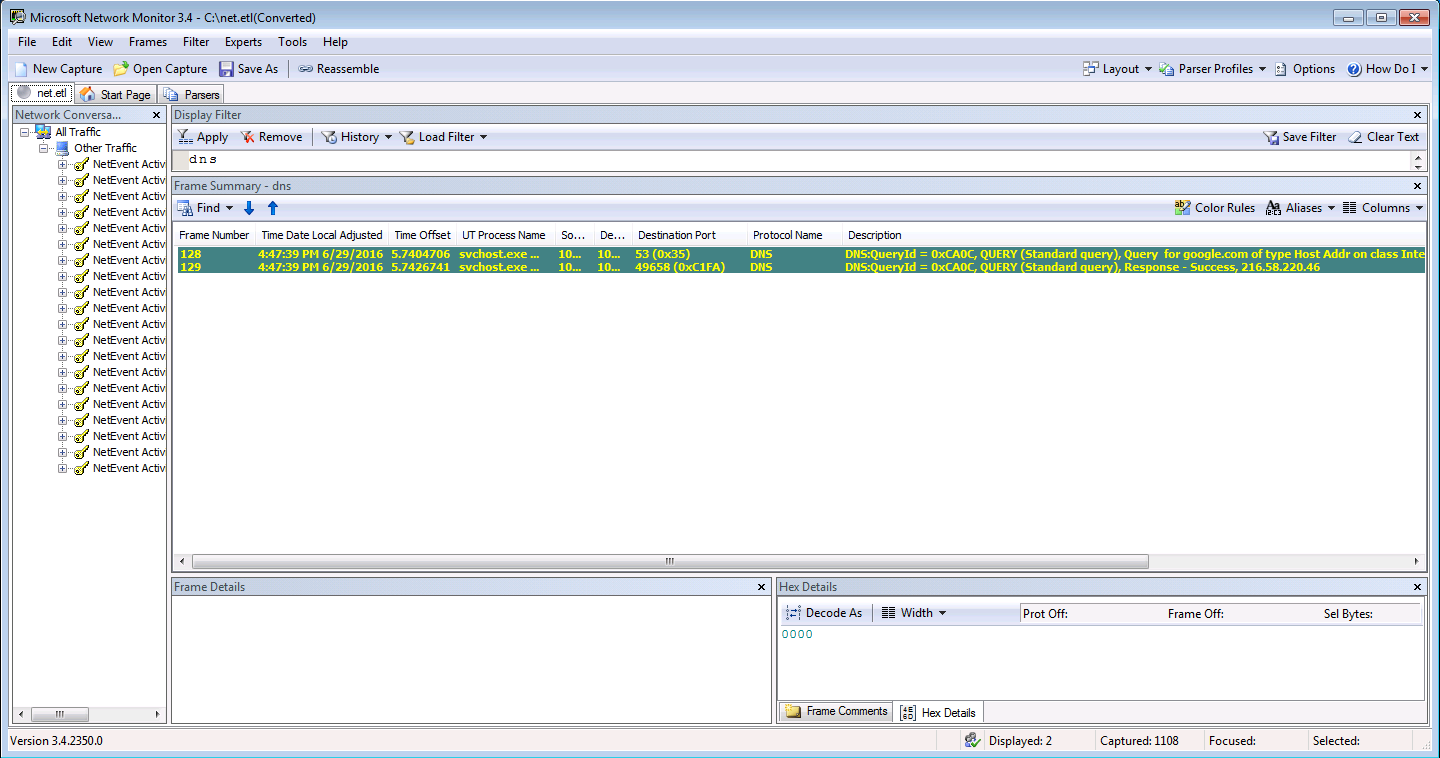 HOW TO: Collect Network trace without installing Wireshark on a