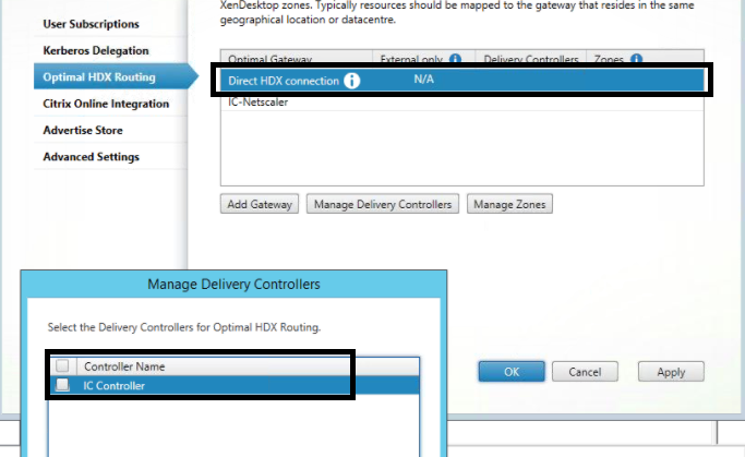 There is no citrix xenapp server configured on the specified