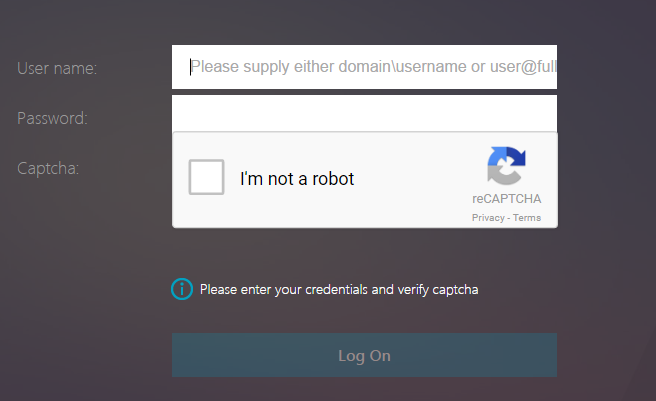 Supporting reCaptcha with NetScaler nFactor