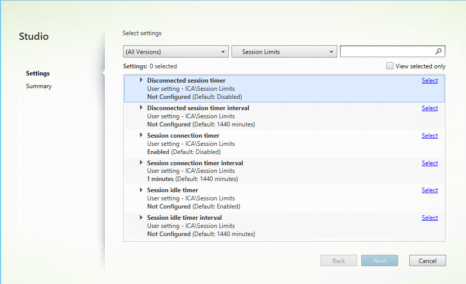 Session limits policy settings not applying as expected