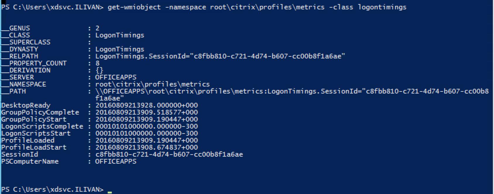 citrix the user profile service service failed to logon