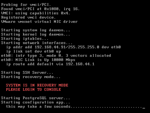 XenMobile Server is in recovery mode