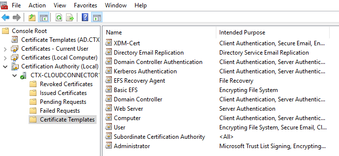Microsoft Certificate Authority Configuration for XenMobile