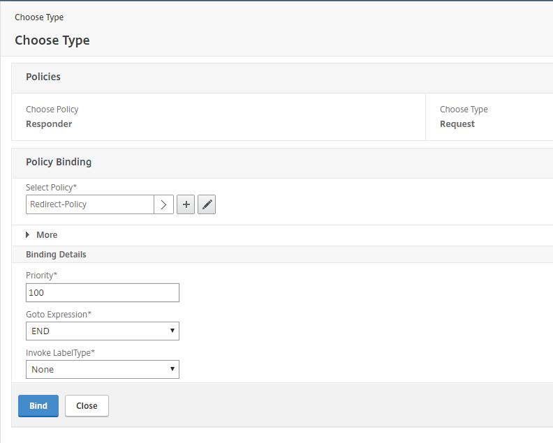 Redirect URL based on HOSTNAME using Responder Policy
