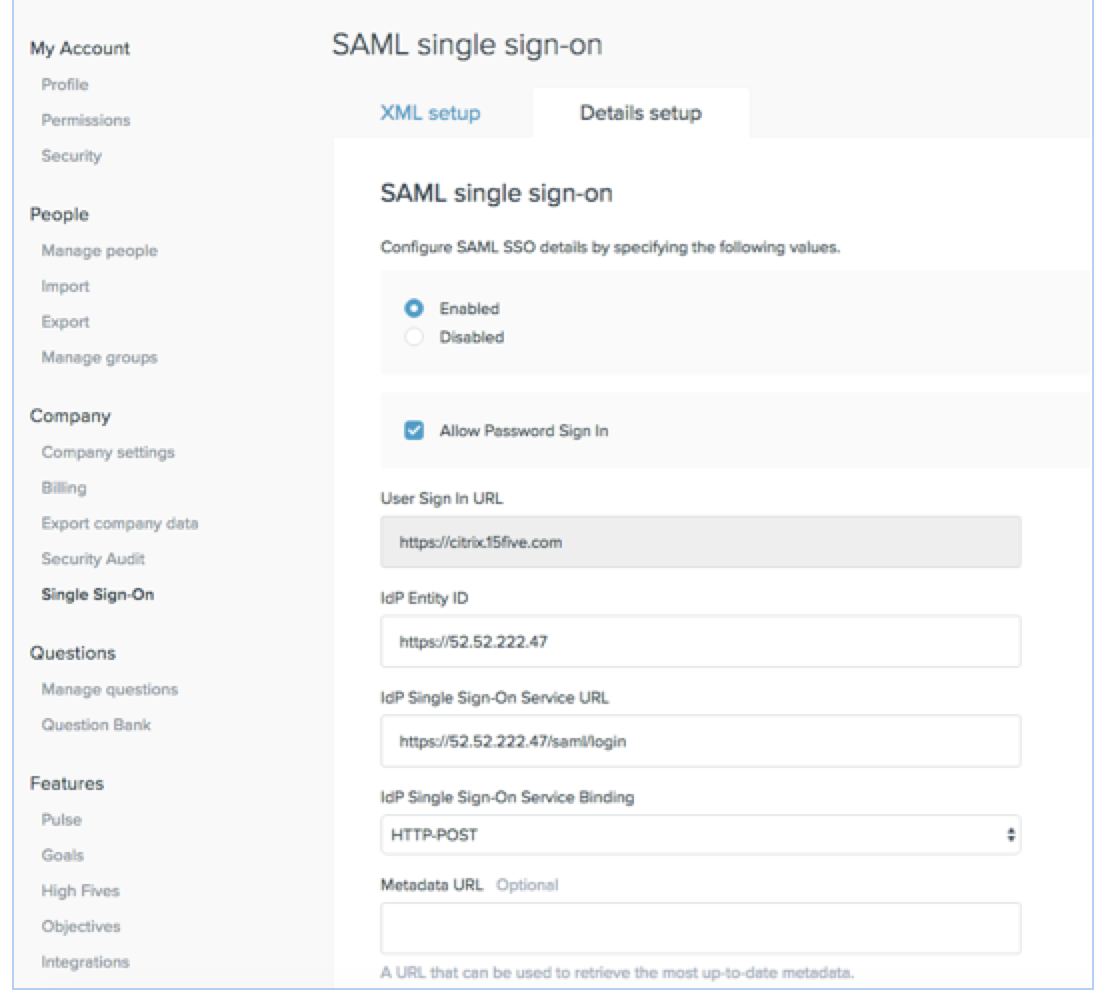 How to Configure NetScaler as IDP for SAML Based Integration