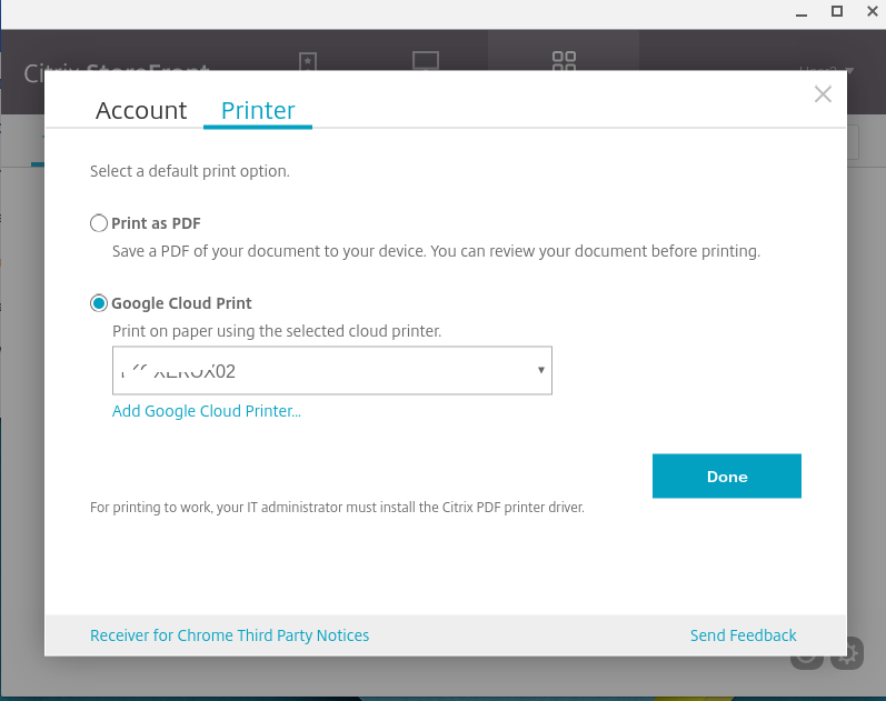 How to Enable PDF Printing with Receiver for Chrome