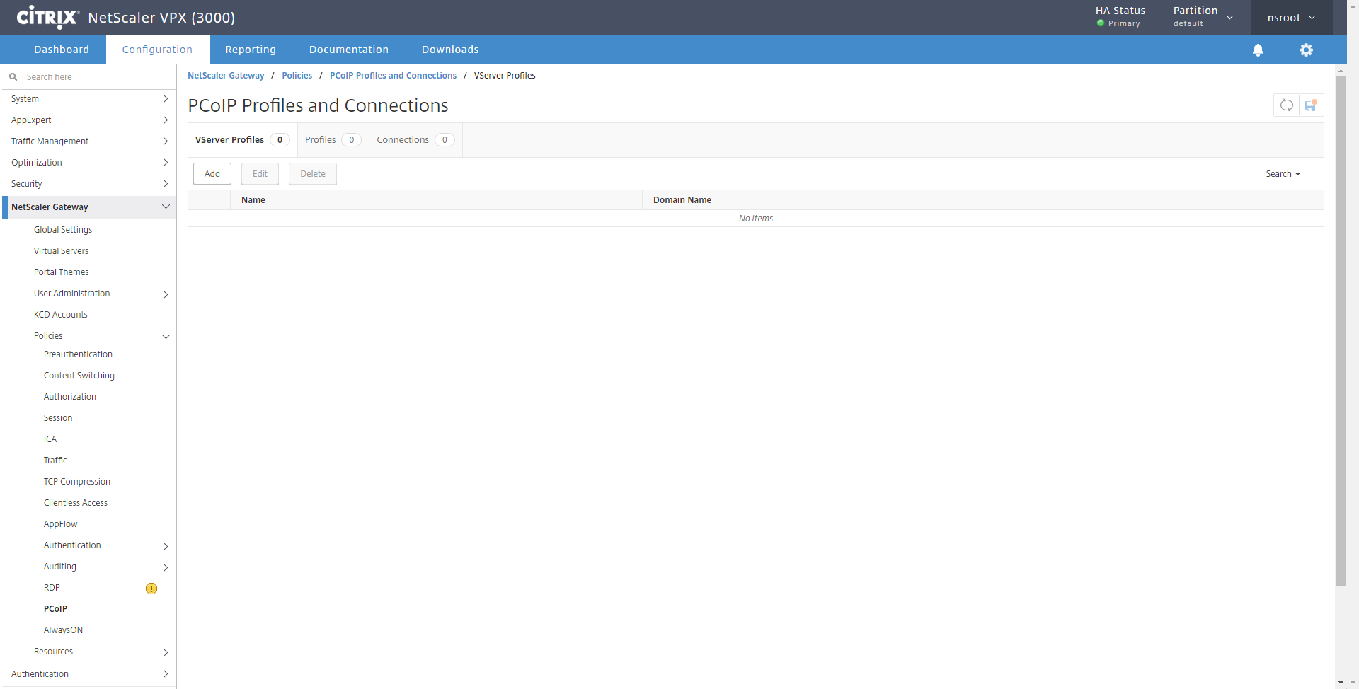 How to Configure NetScaler Gateway Enabled PCoIP Proxy