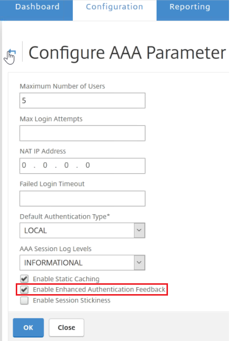 How to Enable and Customize Enhanced Security Feedback