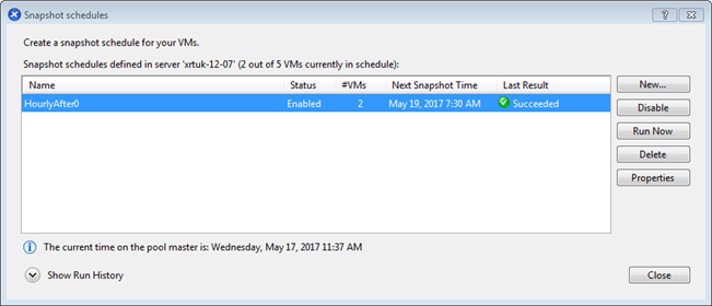 XenServer 7 2: How to Create Scheduled Snapshots?