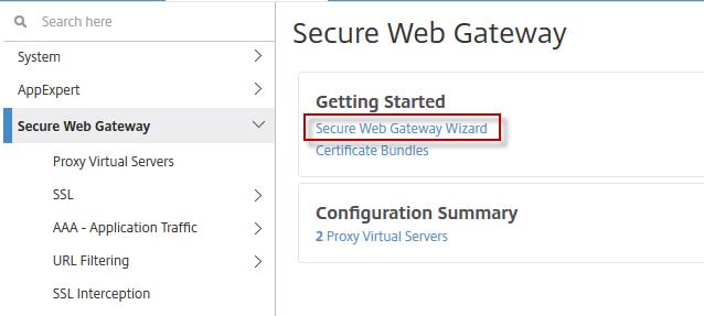 FAQ: NetScaler Secure Web Gateway 12 0