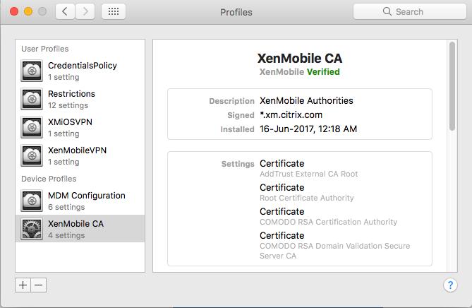 XenMobile-MacOS OTP Enrollment
